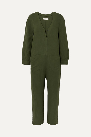 The Union Cotton Gauze Jumpsuit by The Great
