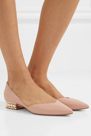 Nicholas Kirkwood Casati embellished leather point-toe flats