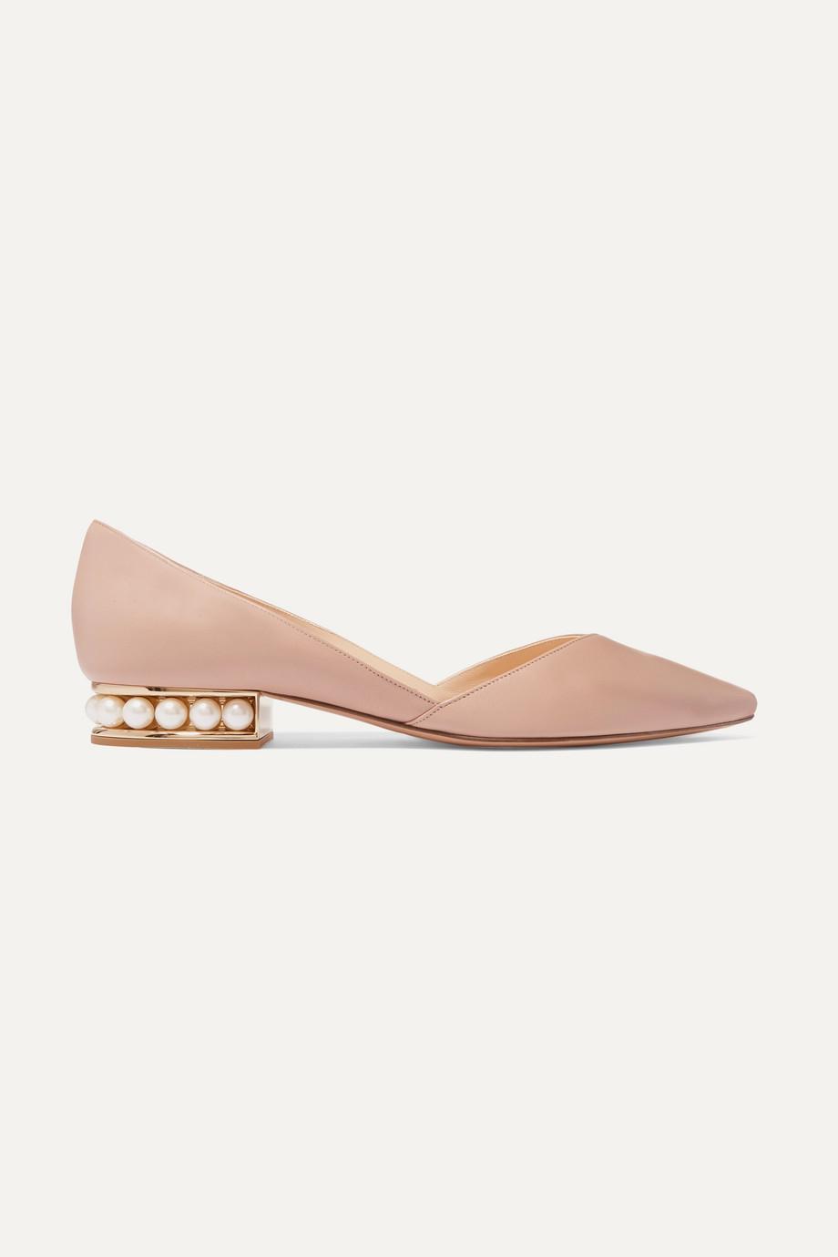 Nicholas Kirkwood Casati embellished leather point-toe flats