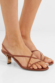 Leeloo leather slingback sandals
