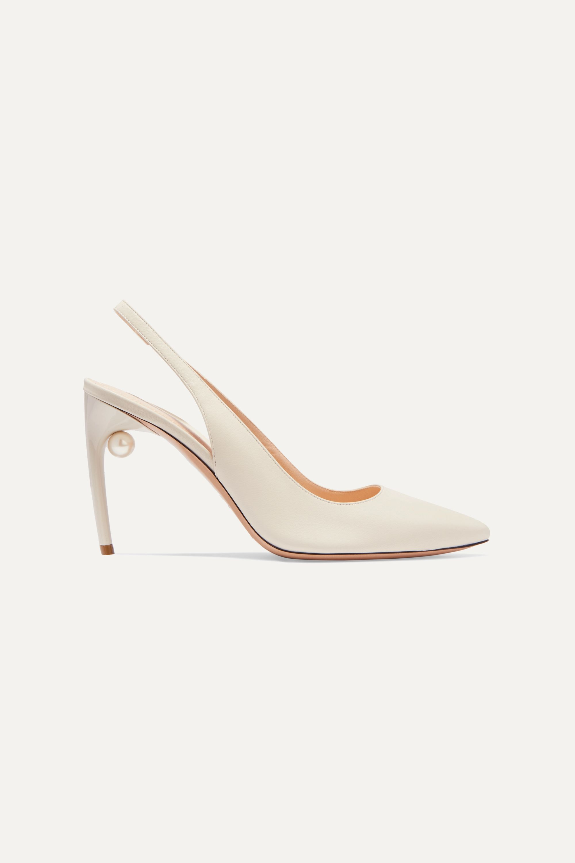 Off-white Mia faux pearl-embellished