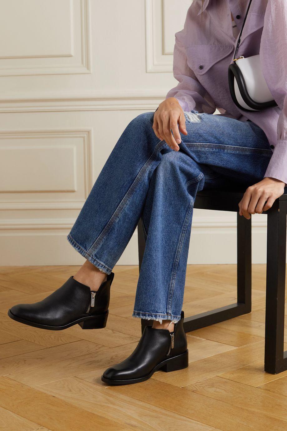 3.1 Phillip Lim Alexa 皮革踝靴