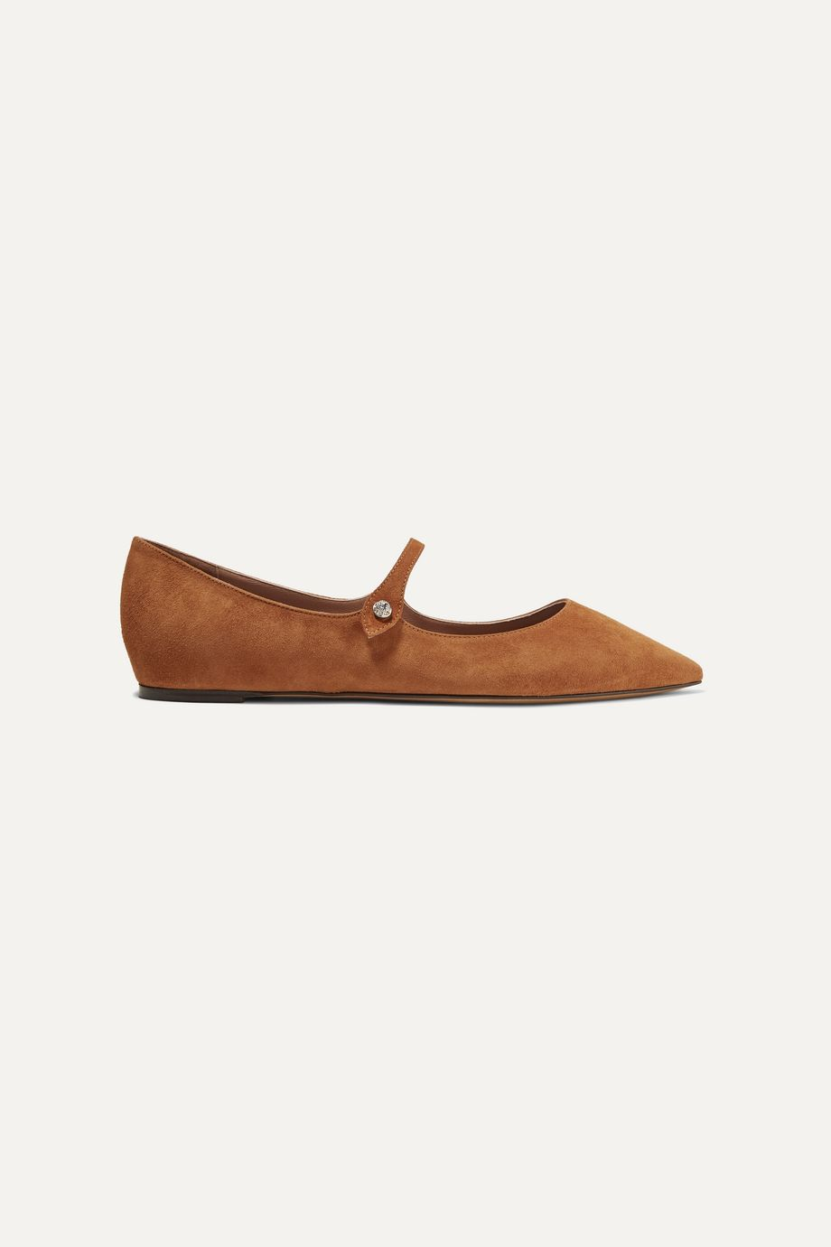 Tabitha Simmons Hermione suede point-toe flats