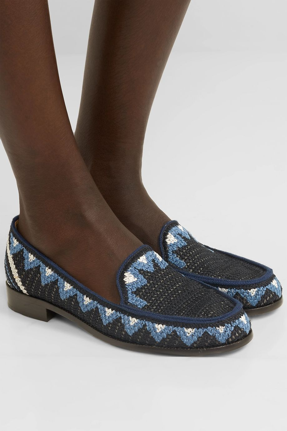 Tabitha Simmons Blakie Sol crocheted loafers