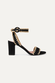 Leticia whipstitched suede sandals