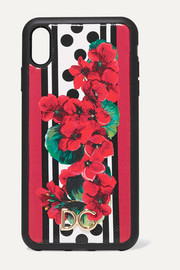 Dolce & Gabbana Printed textured-leather iPhone XS case