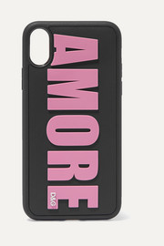 Dolce & Gabbana Amore embossed PVC iPhone X case