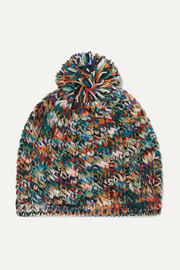 Missoni Pompom-embellished wool-blend beanie