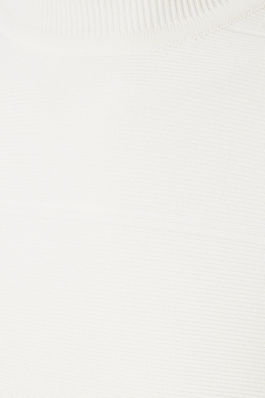 Hervé Léger Oberteil aus Bandage mit Stehkragen