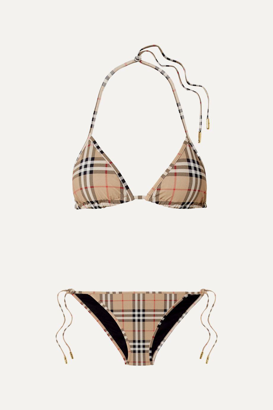 Burberry Checked triangle bikini