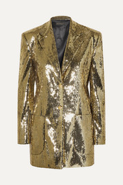 Sequined crepe blazer