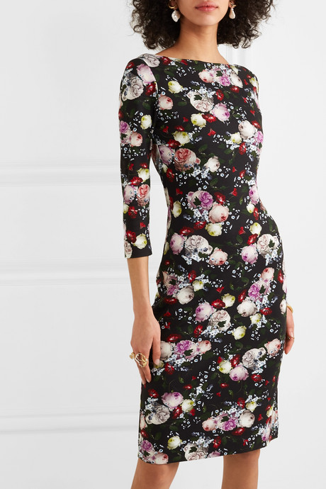 Reese floral-print stretch-jersey dress