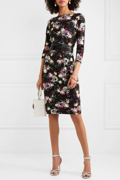 Erdem | Reese floral print stretch jersey dress | NET A