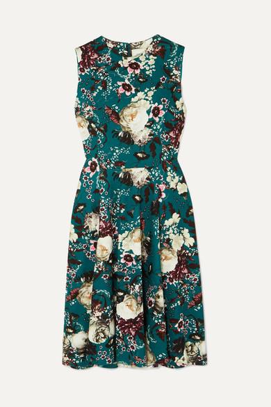 Dylanne Floral Print Stretch Jersey Dress by Erdem