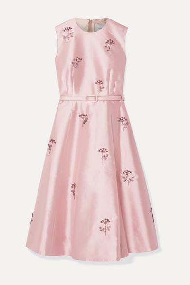 Erdem Dresses Farrah belted crystal-embellished mikado dress