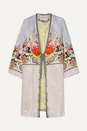 Etro Printed satin robe