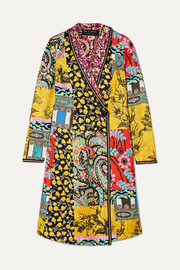 Etro Embroidered printed silk-twill coat
