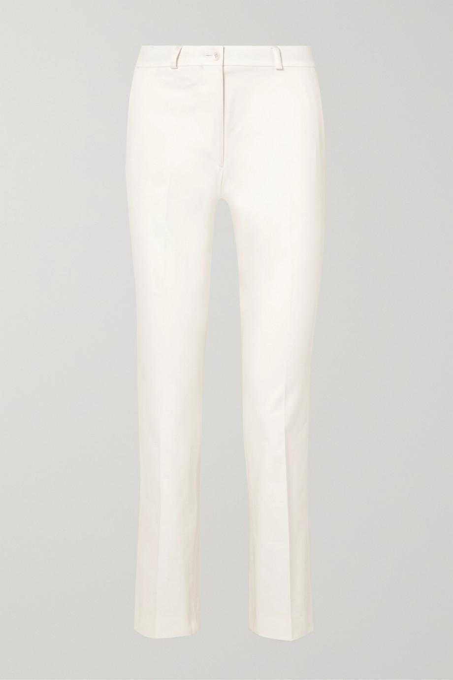 Etro Pantalon slim raccourci en coton mélangé