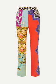 Etro Printed silk flared pants