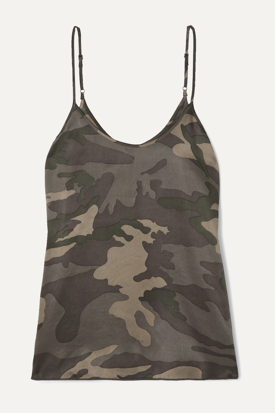 ATM Anthony Thomas Melillo Camouflage-print silk-satin camisole