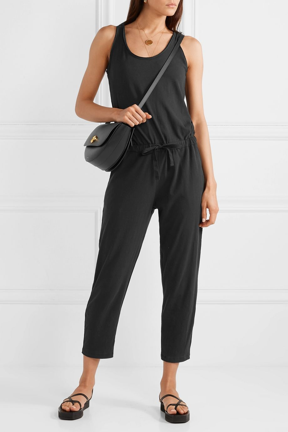 ATM Anthony Thomas Melillo High Torsion cotton-jersey jumpsuit