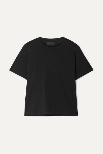 ATM ANTHONY THOMAS MELILLO | ATM Anthony Thomas Melillo - Schoolboy Cotton-Jersey T-Shirt - Black | Goxip