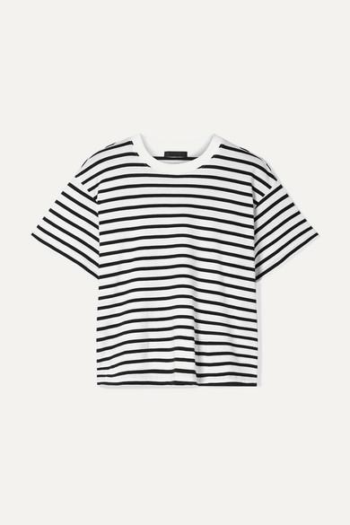 ATM ANTHONY THOMAS MELILLO | ATM Anthony Thomas Melillo - Boy Striped Cotton-Jersey T-Shirt - Black | Goxip
