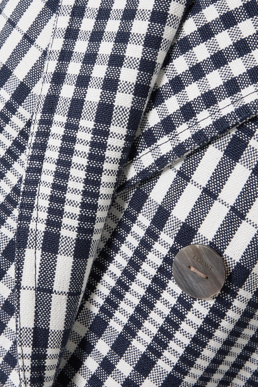 Loewe Checked linen coat