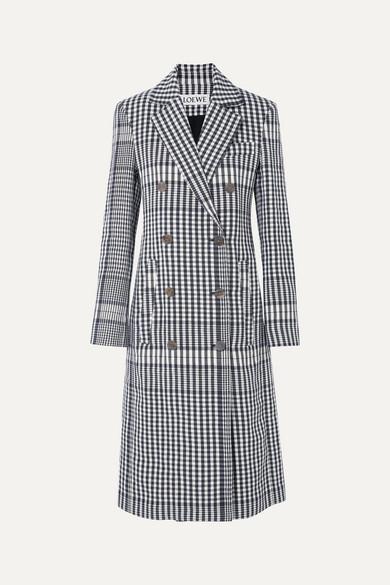 Checked Linen Coat by Loewe