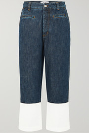 Loewe Fisherman cotton poplin-paneled cropped boyfriend jeans