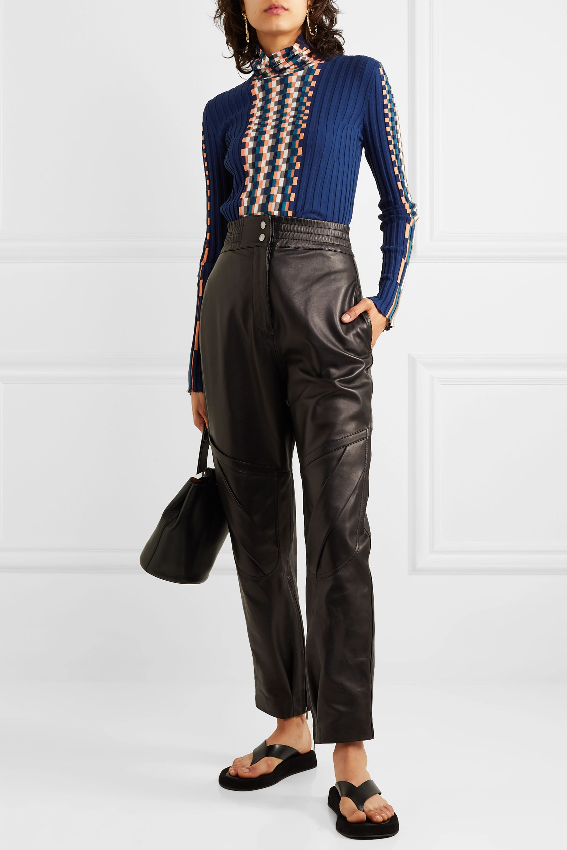 Loewe Ribbed intarsia cotton turtleneck sweater