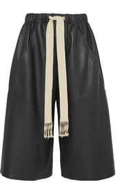 Loewe Cropped leather wide-leg pants