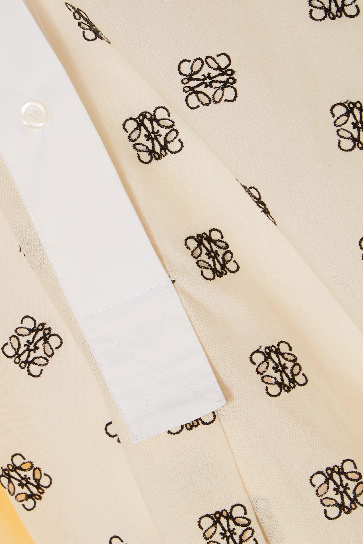 Loewe Chemise en popeline de coton à broderies