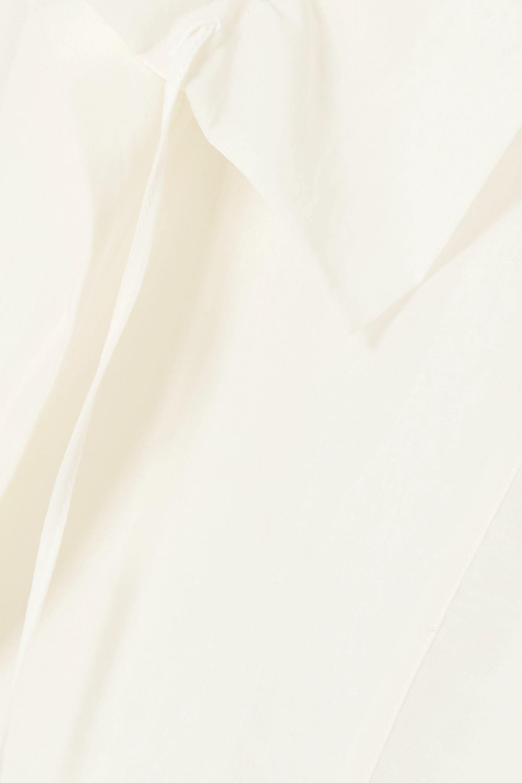 Jil Sander Gathered ruffled cotton and silk-blend dress