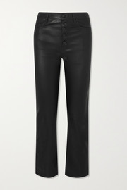 Joseph Den cropped leather straight-leg pants