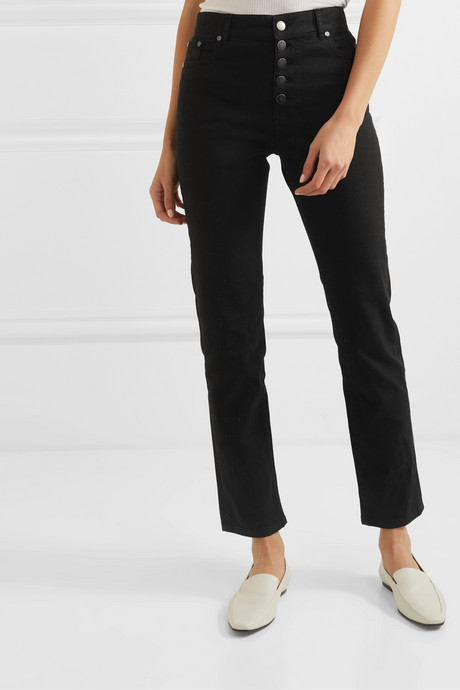 Den high-rise slim-leg jeans