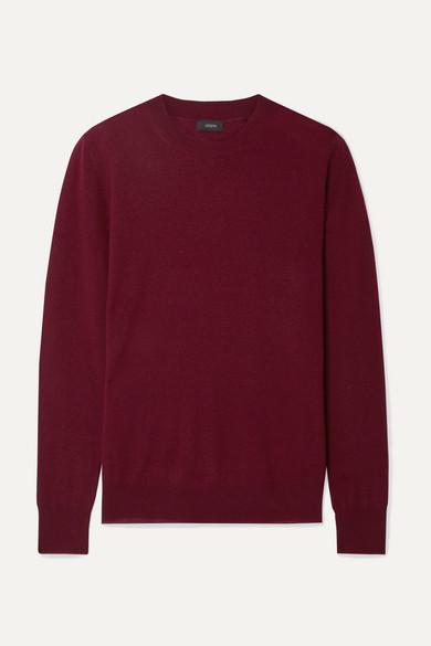 Joseph Cashmere Sweater In Burgundy