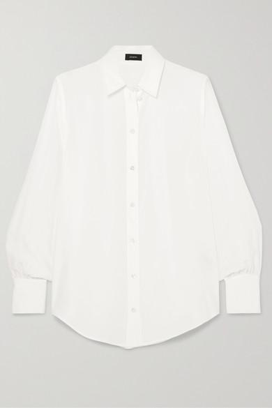 Joseph Klein Washed-silk Shirt In Cream