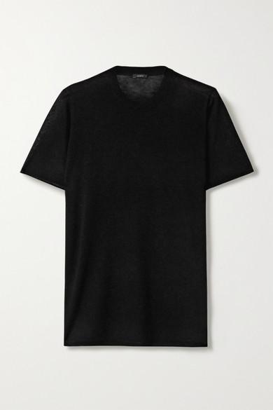 JOSEPH | Joseph - Cashmere T-Shirt - Black | Goxip
