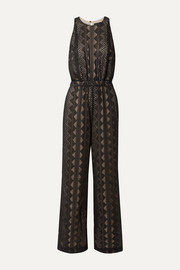 Roxane embroidered crepon jumpsuit