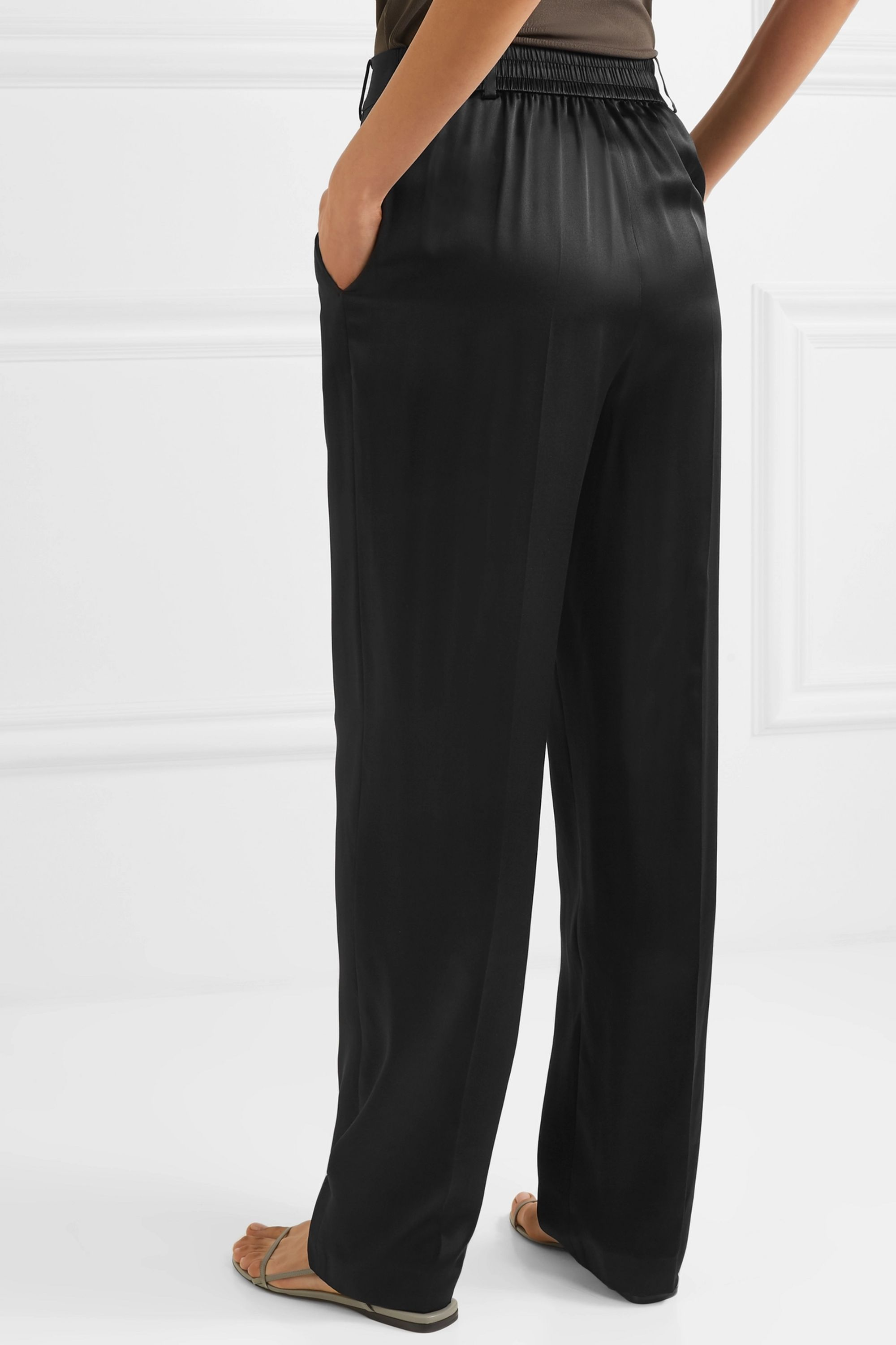 Joseph Jack silk-satin straight-leg pants