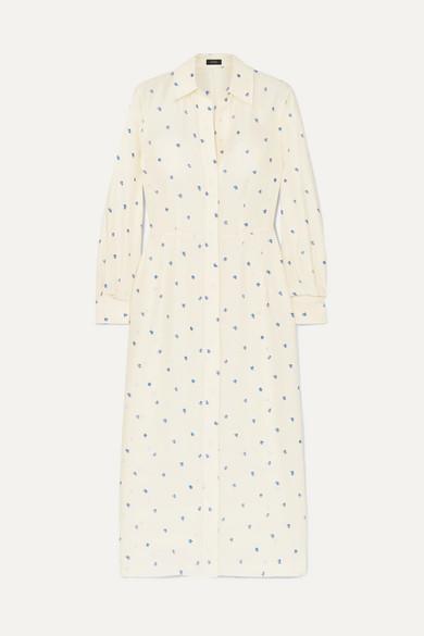 Turner Printed Ribbed Silk Dress by Joseph