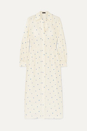 Joseph Turner printed ribbed silk dress