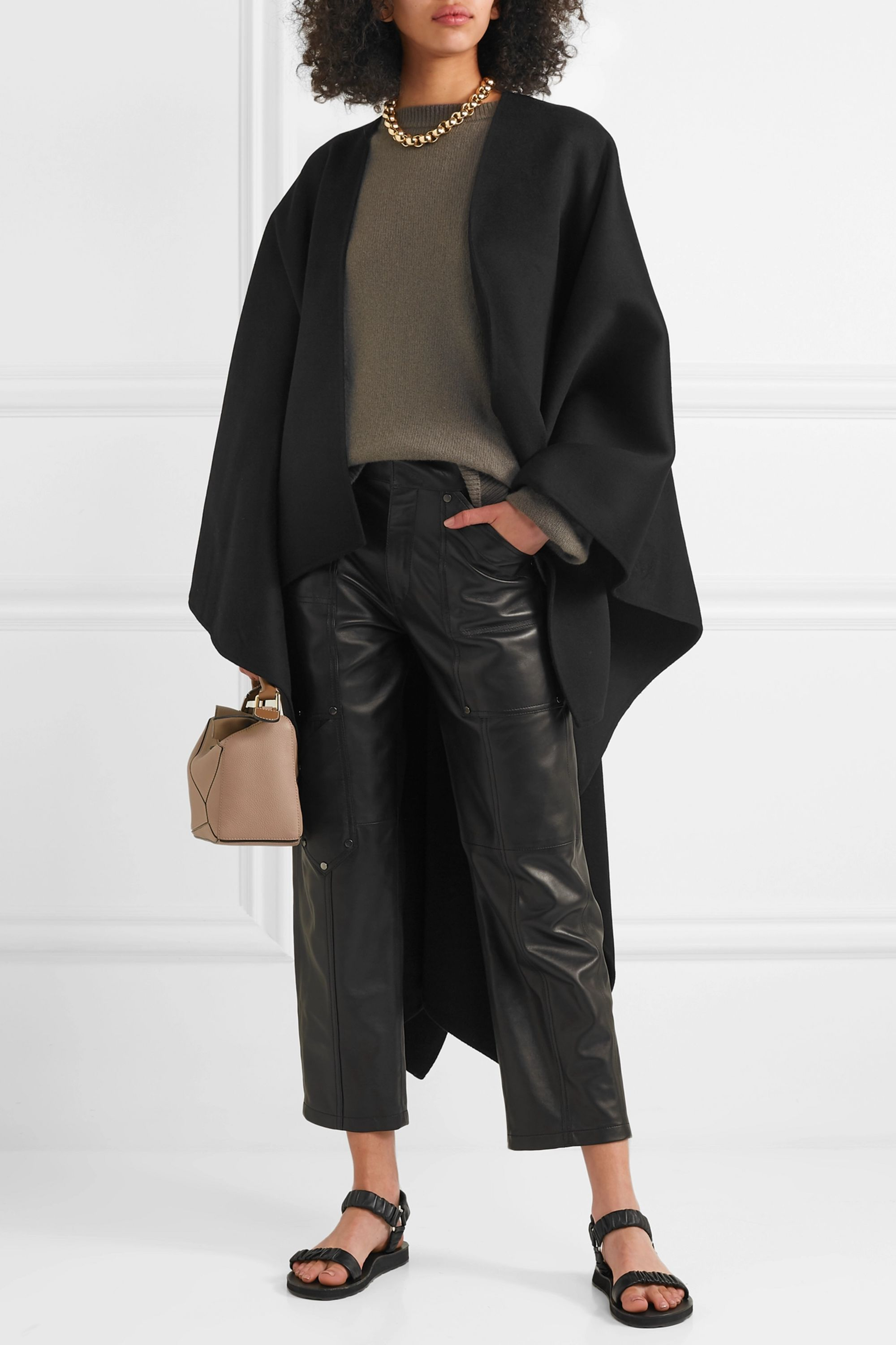 Joseph Wool and cashmere-blend cape