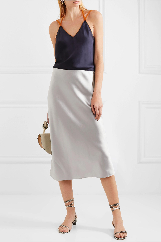 Joseph Frances silk-satin midi skirt