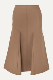 Joseph Gaby pleated wool-blend midi skirt