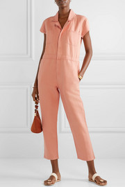 Azore cotton and linen-blend twill jumpsuit