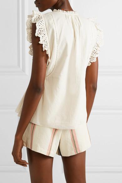 61700e165 APIECE APART | Maria Del Mar broderie anglaise-trimmed cotton-voile ...