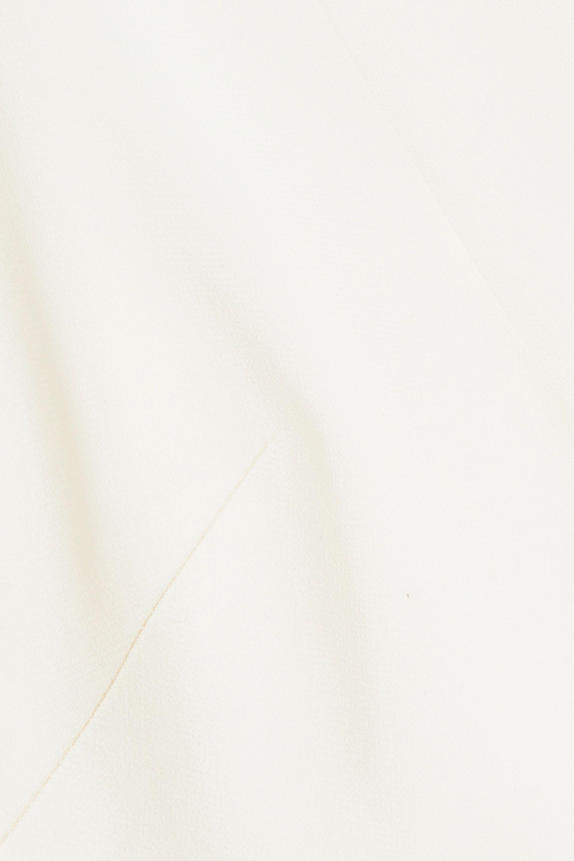 Haney Gemma draped ruffled stretch-cady dress