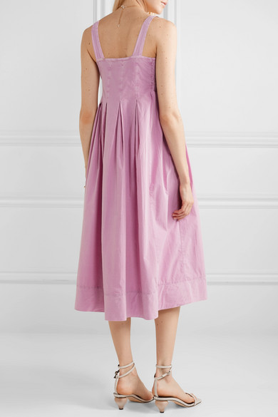 ca1c29a698 HATCH | The Alice pleated shirred cotton-voile midi dress | NET-A ...